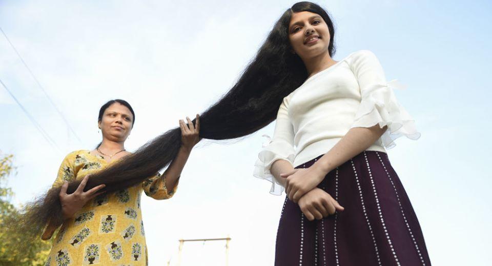 موسوعةغينيستكشف عن طفلة صاحبة أطول شعر في العالم