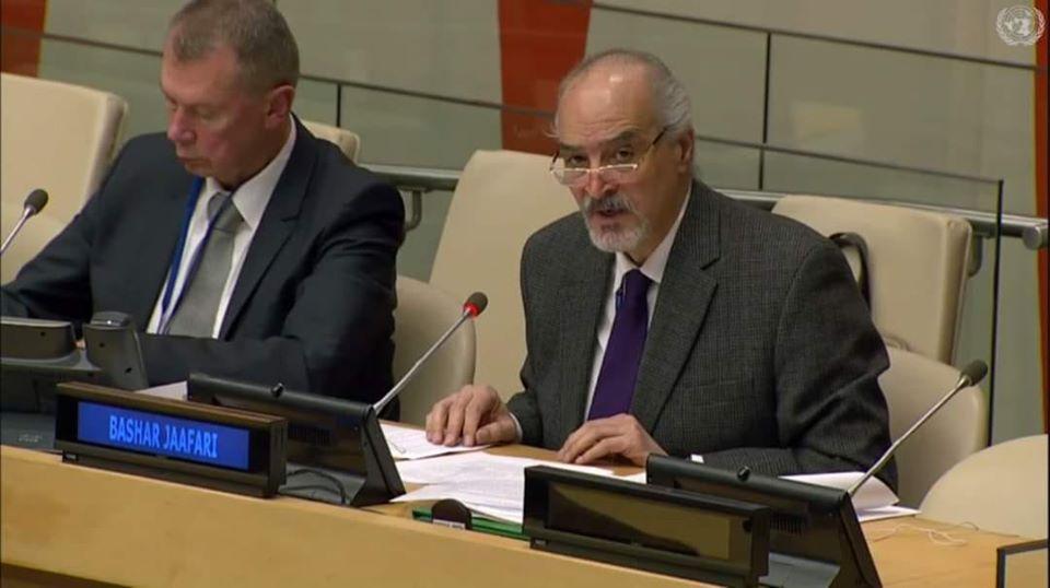الجعفري شارك بحفل تلبية لدعوة من مندوب السعودية في الأمم المتحدة … الرياض تمد يدها صوب دمشق