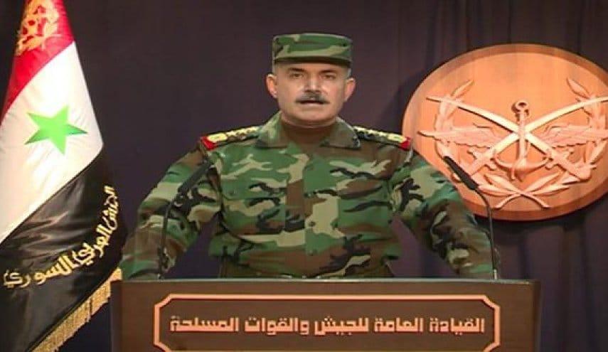بيان صادر عن القيادة العامة للجيش والقوات المسلحة :