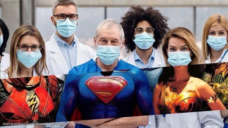 """صديقة رونالدو تدعم الأطباء في """"معركة كو ر ونا"""""""