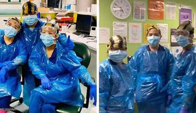 الصورة المؤلمة.. قصة ممرضات ارتدين أكياس قمامة فأصبن بكو ر ونا