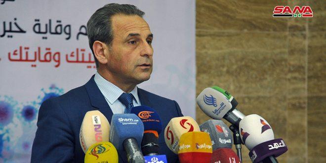 وزير الصحة: شفاء حالة جديدة من فيروس كورونا.. جميع الإصابات المسجلة حتى الآن في دمشق وريفها
