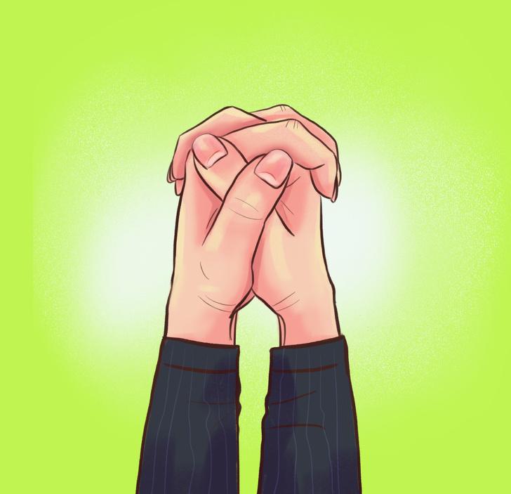 الطريقة التي تشابك بها أصابعك تكشف نوع شخصيتك!