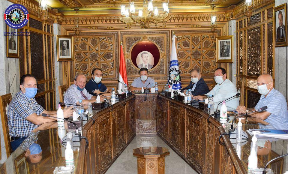 غرفة صناعة دمشق اجتماع لمناقشة الركود العالمي والانكماش الاقتصادي ا