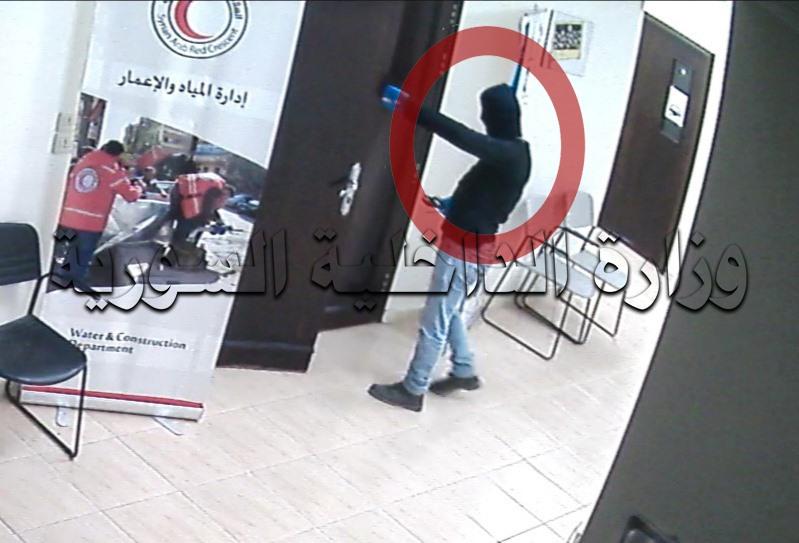سارق فرع الهلال الأحمر السوري بريف دمشق بقبضة شرطة جرمانا بأقل من 24 ساعة.