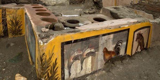 اكتشاف مطعم أثري في مدينة بومبي الإيطالية