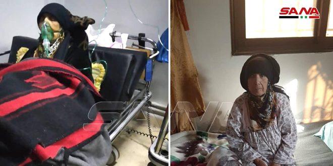 شفاء سيدة تبلغ 82 عاماً وتعاني أمراضاً مزمنة من فيروس كورونا في درعا