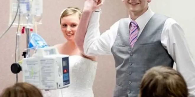 امرأة بريطانية تتزوج من صديقها وهي تحتضر!