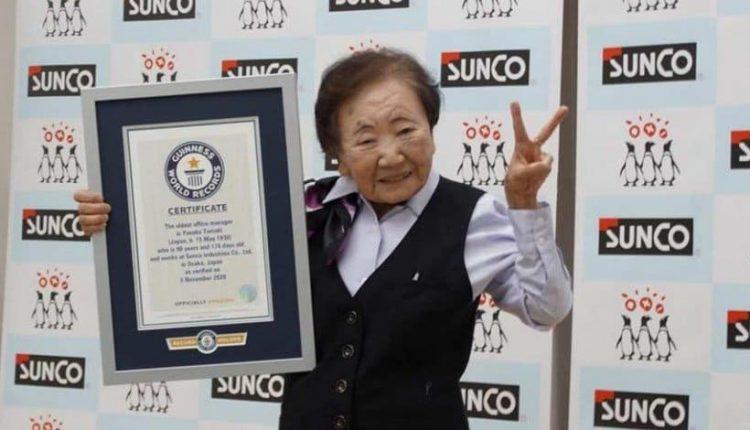 تسعينية تدخل غينيس كأكبر مديرة مكتب في العالم!