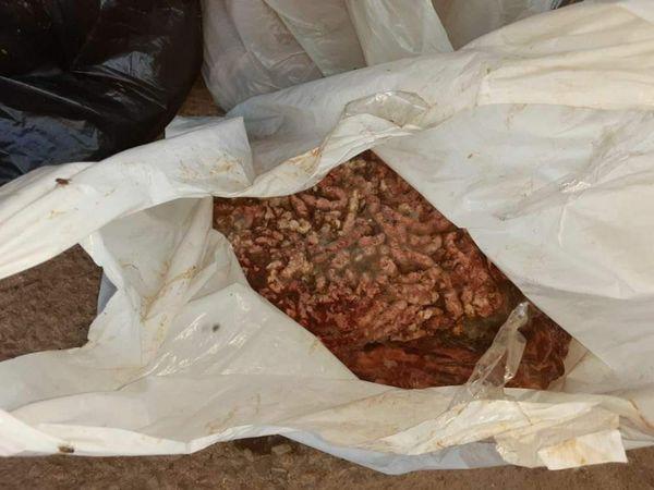 مخلفات فروج معدة للبيع في المطاعم في الزبداني !