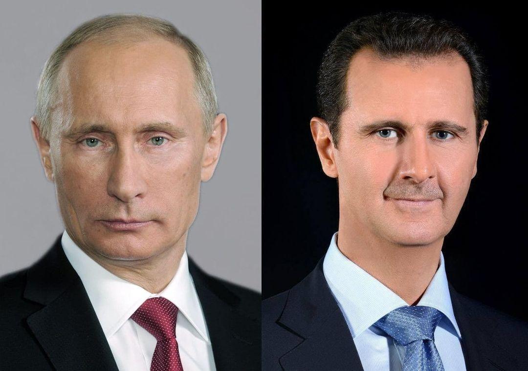 الرئيس الأسد في برقية تعزية إلى الرئيس الروسي فلاديمير بوتين :