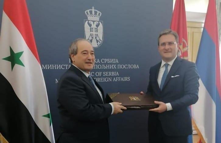 لمقداد و نظيره الصربي يتفقان على تعزيز العلاقات الثنائية
