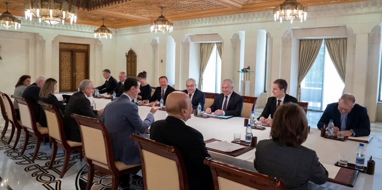 الرئيس #الأسد يستقبل المبعوث الخاص للرئيس الروسي فلاديمير #بوتين إلى سورية